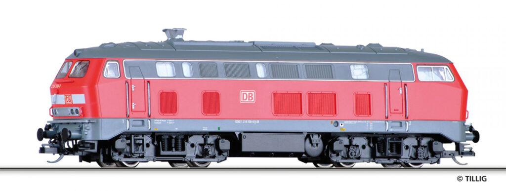 Model lokomotywy spalinowej DB 218 108-9