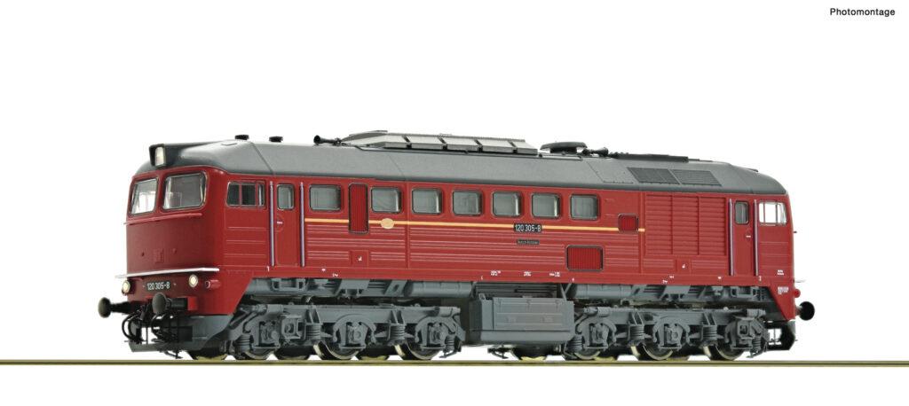 Model lokomotywy spalinowej 120 305-8. Epoka IV. Nr katalogowy 36295; z dekoderem i dźwiękiem nr. kat. 36296