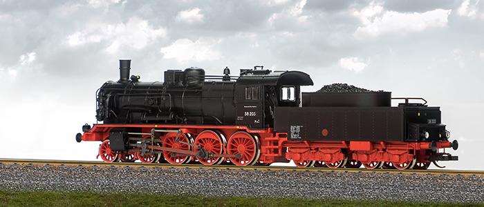 Beckmann TT. Model parowozu 38 205,ep. III. Art 1018 311 - 313.