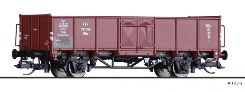 Tillig. Nr.kat. 14072. Epoka III. Wagon węglarka typu 9W serii Wddo.
