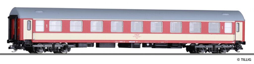 Tillig. Nr.kat.16401. Epoka V. Model wagonu 1 klasy serii Adnu PKP na bazie wagonu Y/B 70,