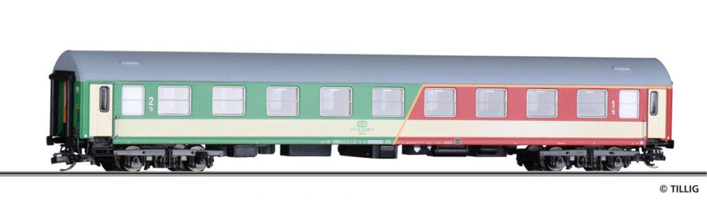 Tillig. Nr.kat.16402. Epoka V. Model wagonu 1 i 2 klasy serii ABdnu PKP na bazie wagonu Y/B 70,