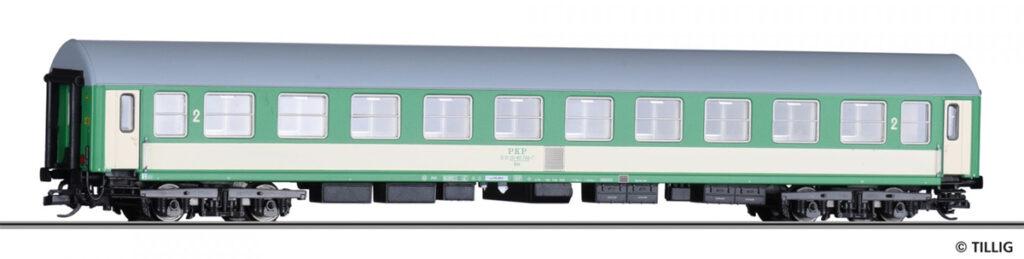 Tillig. Nr.kat.16401. Epoka V. Model wagonu 2 klasy serii Bdnu PKP typu Bautzen 84.