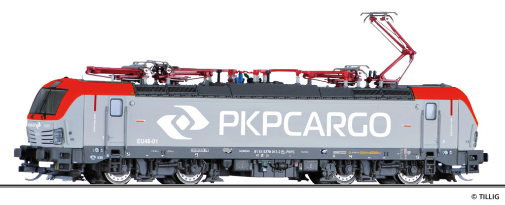 Tillig, nr.kat. 04828 - model lokomotywy EU46-01 PKP Cargo, Vectron, ep. VI